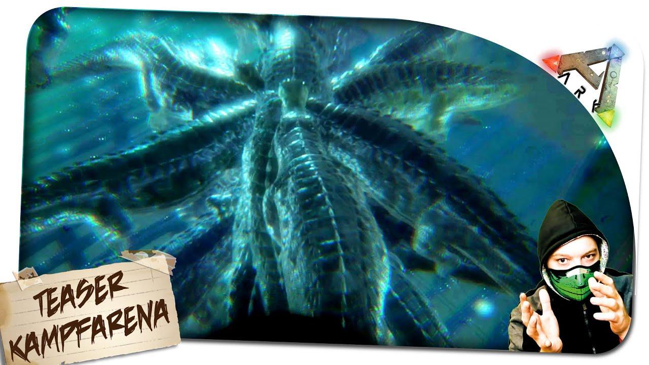 Ark Unterwasser Kampf Arena Teaser Mosasaurus Vs Pelsios Vs Sarco