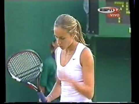 Gisela Dulko vs. Martina Navratilova en Wimbledon 2004, por ESPN