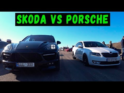 БЕЗУМСТВО на SKODA OCTAVIA 1.8 Turbo. Гонка против Porsche Cayenne Turbo, BMW 435, Impreza WRX STI