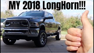 TOP 5 THINGS I LOVE ABOUT MY NEW 2018 RAM 3500 LONGHORN CUMMINS!!!