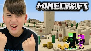 ΞΕΦΥΓΑΜΕ ΑΠΟ ΤΗΝ LAVA ΚΑΙ ΒΡΗΚΑΜΕ DESERT VILLAGE MINECRAFT FAMOUS GAMES @Let's Play Kristina