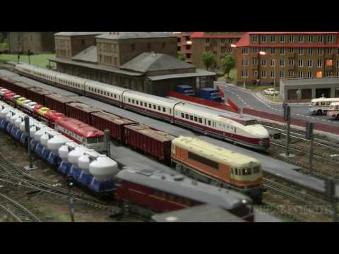 TT Gauge Model Railway Layout with Model Trains from the Czechoslovak State Railways