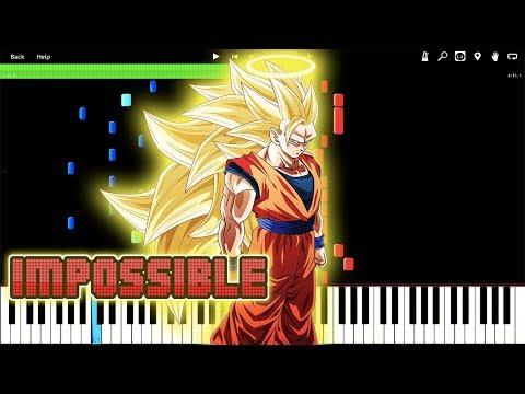 IMPOSSIBLE REMIX! SUPER SAIYAN 3 THEME - Dragon Ball Z OST (Piano Tutorial) [Synthesia]