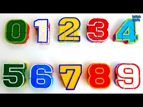 Numbers 0 to 9 with Robot|0123456789 Number robot transformers toys|Number Robot |Numbers Bots