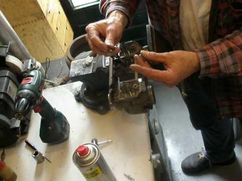 slow jet nozzle remove caburetor cx500