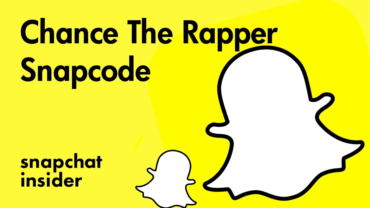 Chance The Rapper Add With Snapchat Snapcode Mynamechance Snapchat Insider
