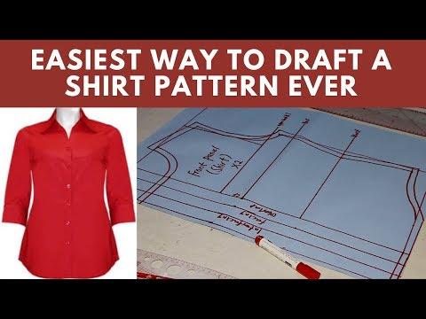 DIY | Shirt Pattern Making Tutorial | [DETAILED] Easy Make Shirt Patterns | Techniques For Pattern thumbnail