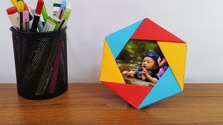 How to Make DIY Photo Frame at Home - Paper Photo Frame Easy