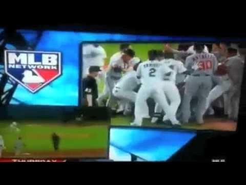 Marlins and Nationals fight/brawl with Hard in the paint song!