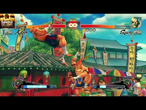 ULTRA STREET FIGHTER IV Adon vs Sagat  