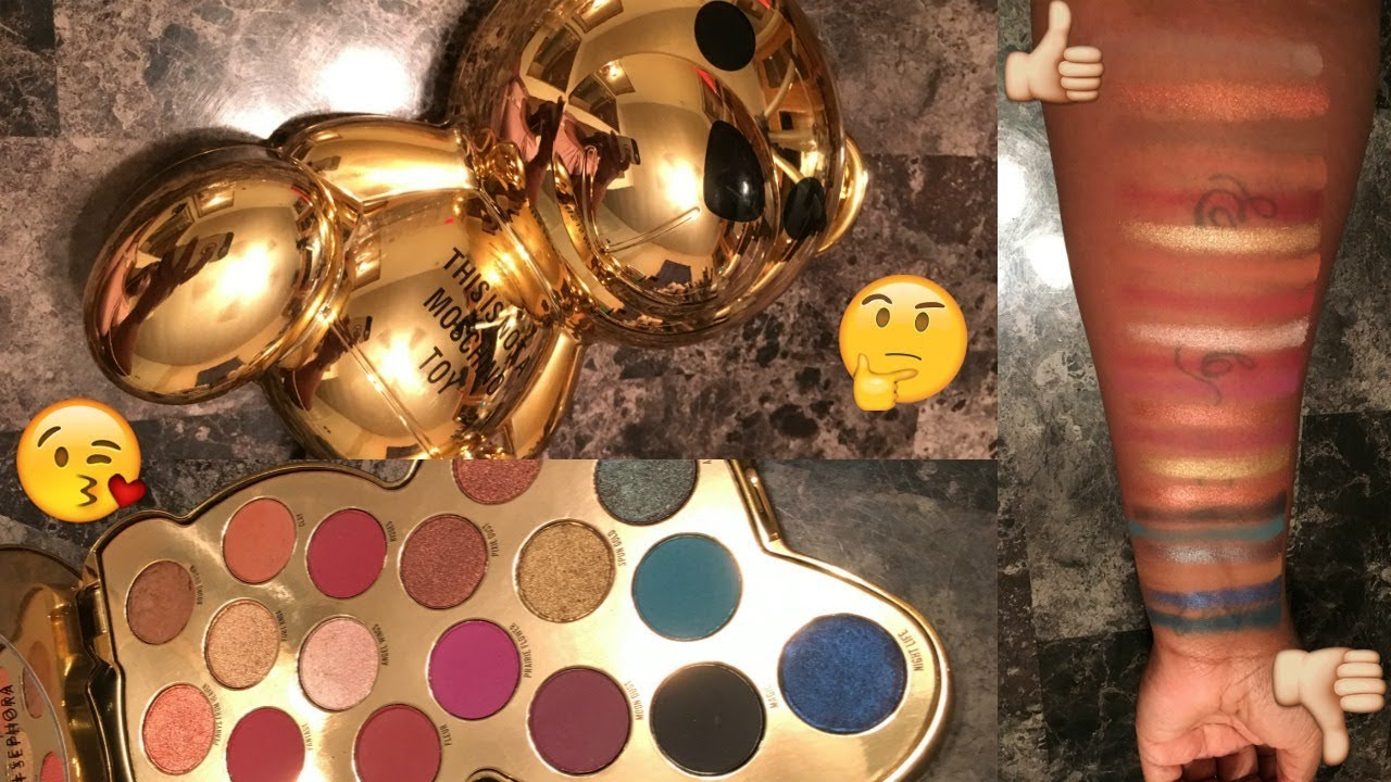 Moschino X Sephora Teddy Bear Eyeshadow Palette Live Swatches Woc Poc