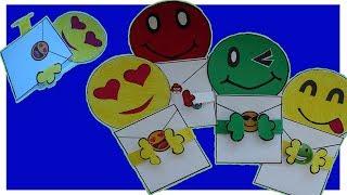 DIY Открытки конвертики смайлы своими руками | Postcards envelopes smilies