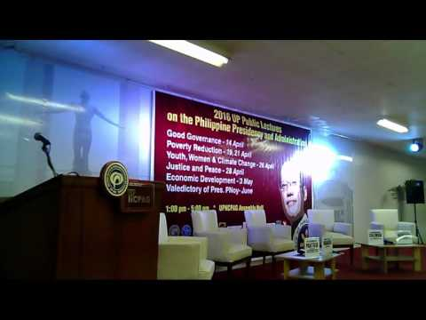 UP Public Lectures on the Philippine Presidency and Administration