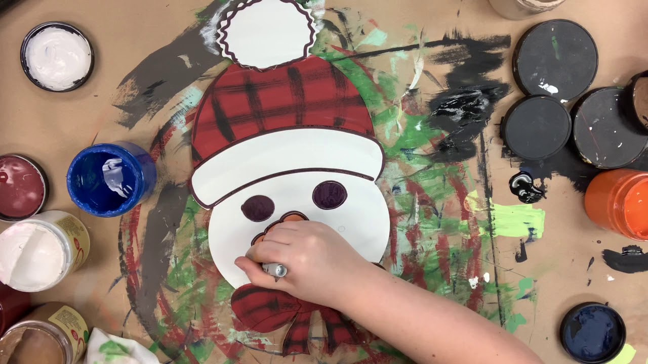 Snowman Head Holiday Craft Step by Step Video Tutorial
