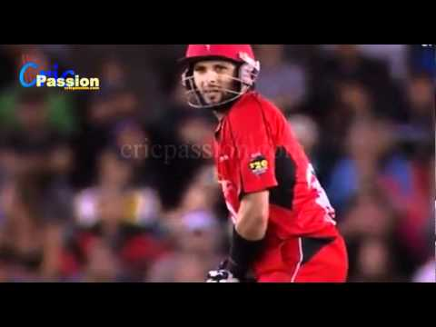 Shahid Afridi 3 Wickets For 35 And 26 Runs Of 14 Balls In KFC Big Bash