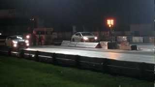 2012 honda civic si hfp vs 2012 hyundai veloster turbo quarter mile race