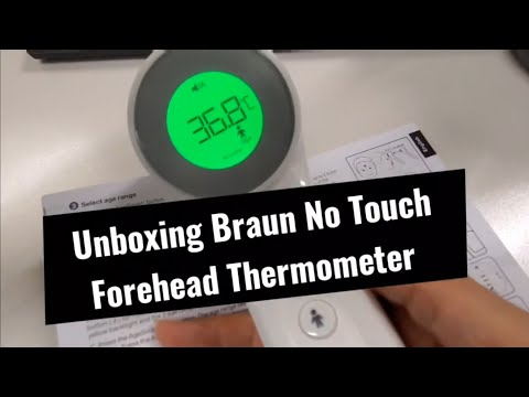 Unboxing Braun No Touch Forehead Thermometer BNT400 | Can Be Used To Measure Food Temperature
