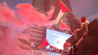 video: Pro-Israel supporters hit with fireworks in violent clashes at New York's Times Square