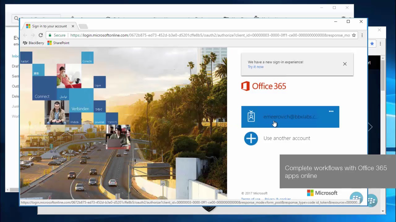 BlackBerry Access for Desktop: Office 365 Email, Calendar, Docs