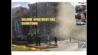 [RESPONSES + ON SCENE] - 4th Alarm Apartment Fire in Downtown Vancouver