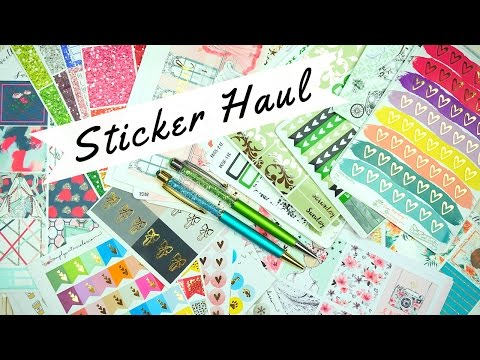 March Planner Sticker Haul (Etsy)