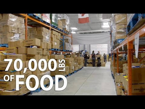 Barrie Food Bank | Charity | Sorting 70,000 Lbs of Food Donations | Timelapse