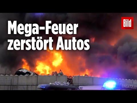 Mehr als 50 Autos stehen in Flammen |Bochum