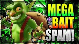 WOW!! NEW MEGA BAIT SPAM DECK is SO GOOD!! Clash Royale Bait Deck 2018
