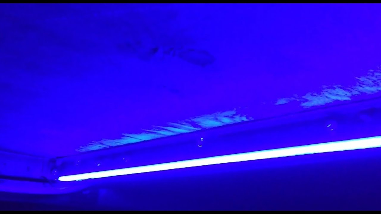 Rv led blue strip light install diy youtube mozeypictures Gallery