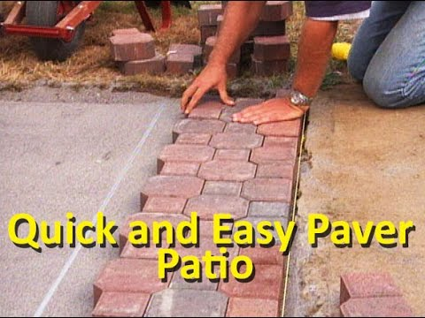 how to lay patio pavers youtube. Black Bedroom Furniture Sets. Home Design Ideas