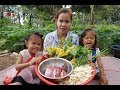 Awesome Cook Beef With Vegetable Delicious Recipe -Beautiful Girl Cooking -Village Food Factory -BBQ