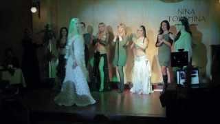 Показ повседневных платьев,восточных костюмов и свадебного платья от Nina Torshina