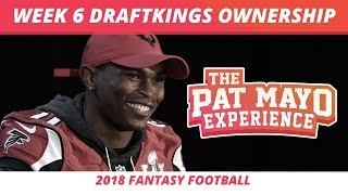 2018 Fantasy Football Rankings — Week 6 DraftKings Ownership Projections and GPP Pivot Plays