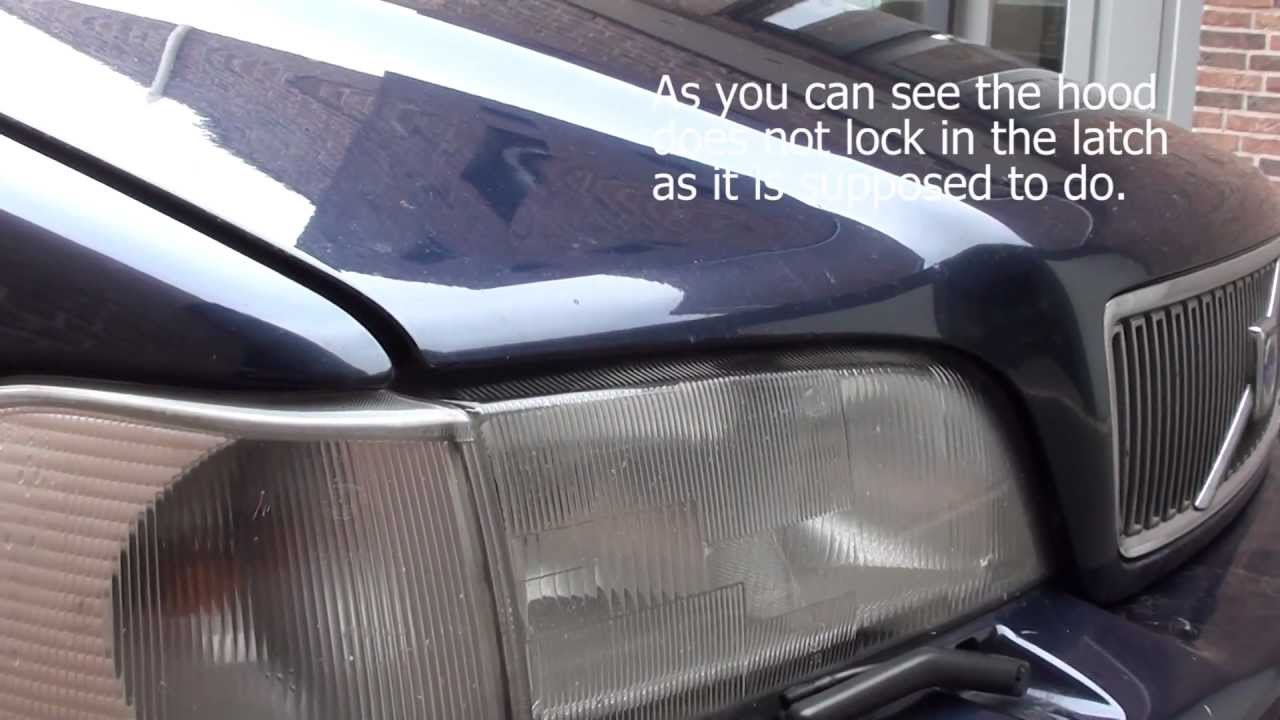 Volvo V70 Hood latch removal, cleanup and installation - YouTube