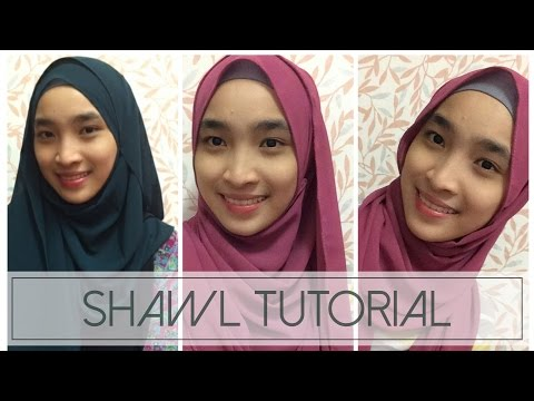 SHAWL TUTORIAL | 3 STYLE | BY KHADHRAA