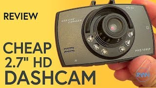 cheap Dash Cam Review (with footage)
