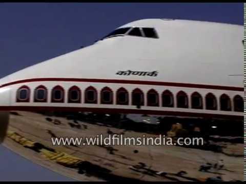 Air India double decker Jumbo 747 400 Konark being inducted