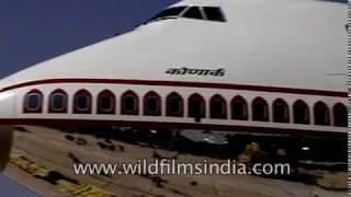 Video Air India double decker Jumbo 747 400 Konark being inducted download MP3, 3GP, MP4, WEBM, AVI, FLV Agustus 2018