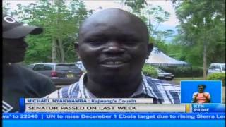 Burial preparations of departed Homa Bay senator Otieno Kajwang enteres the final phase today thumbnail