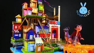DIY Cardboard House Coco Disney Pixar | How to build Doll House from Cardboard