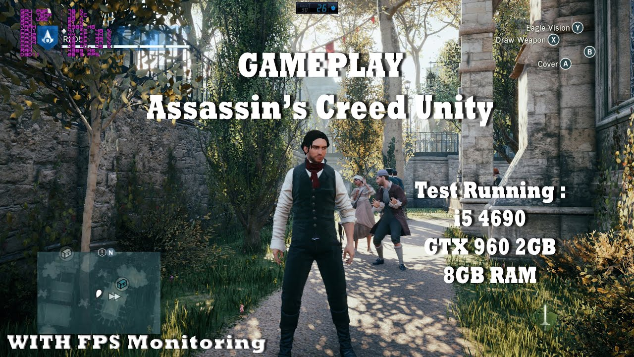 Assassin S Creed Unity Pc Gameplay Ultra High 1080p Test