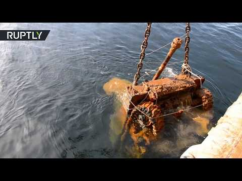 War legacy: US WWII tanks retrieved from Barents Sea in Russia