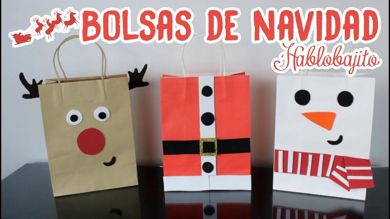 Decorar bolsas de regalo ideas para navidad - Ideas para decorar en navidad ...