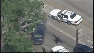 Police Chase Ends With Fatal Shooting - Driver Shot and Killed by Police Officers - RAW VIDEO