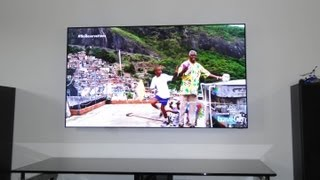 Samsung UN55D7000 LED TV modified by removing bezel