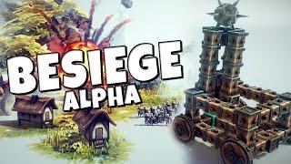 Besiege #1 - Alpha Gameplay - Morning Wood Siege