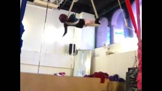 Aerial Dancer Unravels and Falls to the Matt