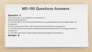 MD-100 Exam Questions PDF + Practice Test