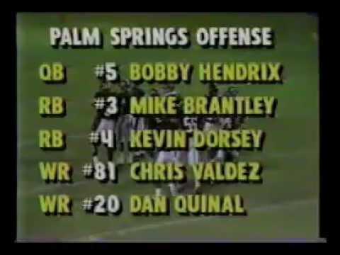 Hemet vs. Palm Springs  - High School Football Game of the Week - 10-12-1990