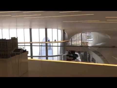 Zaha Hadid's Heydar Aliyev Center from inside